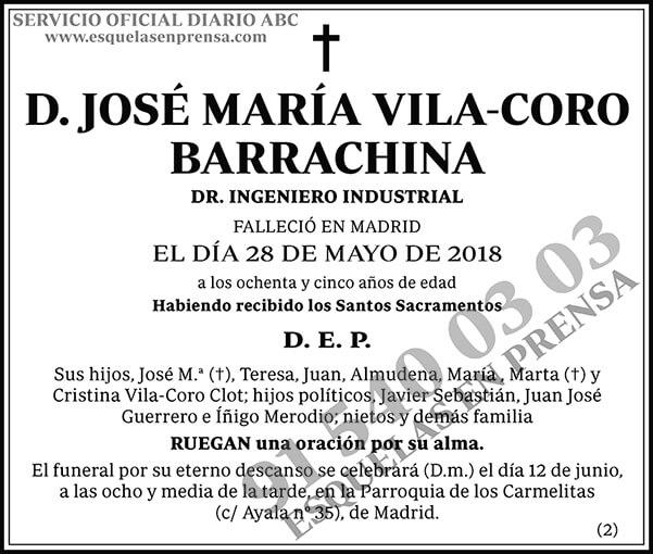 José María Vila-Coro Barrachina